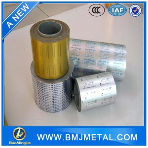 Pharmaceutical Use Aluminum Foil Blister Foil