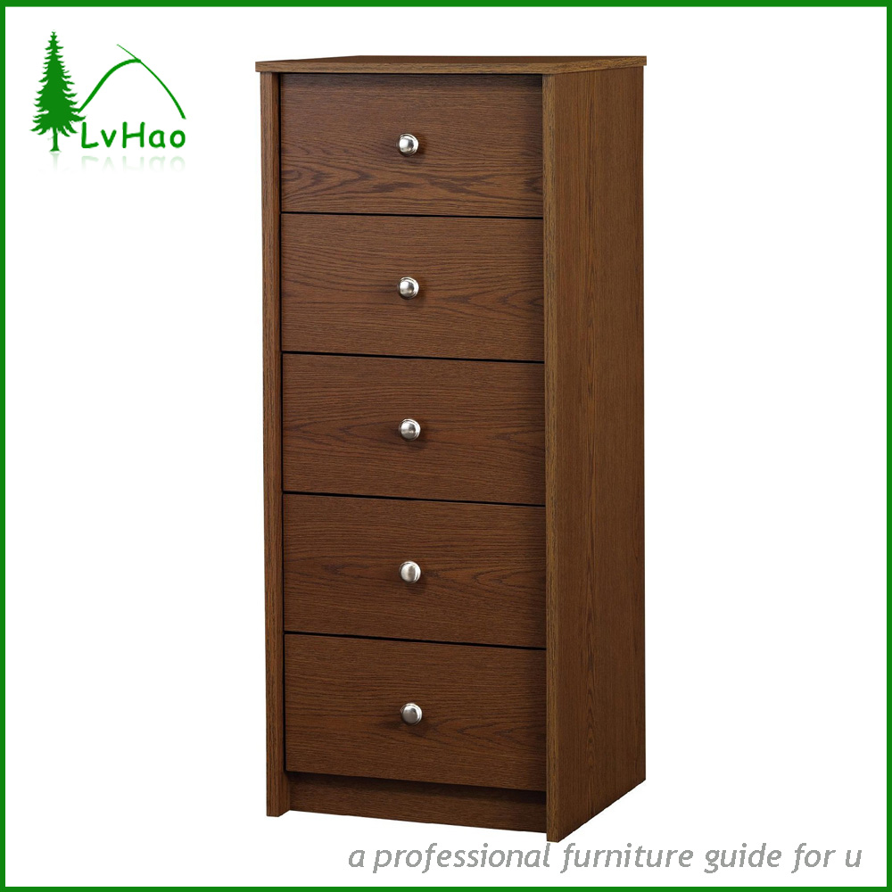 Antique 5 Drawers Bedroom Wooden Clothes Storage Cabinet