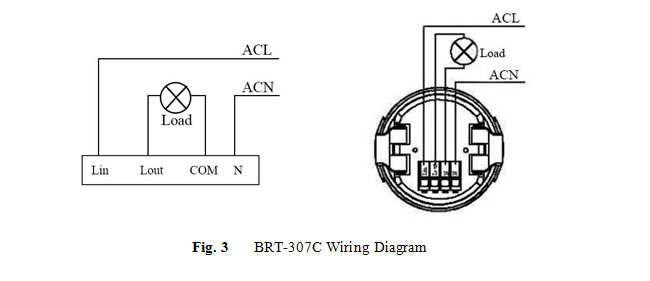fig 2 wiring diagram for ceiling mounting