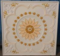 Painted Colorful Gypsum Ceiling Flower Design Ceiling ...