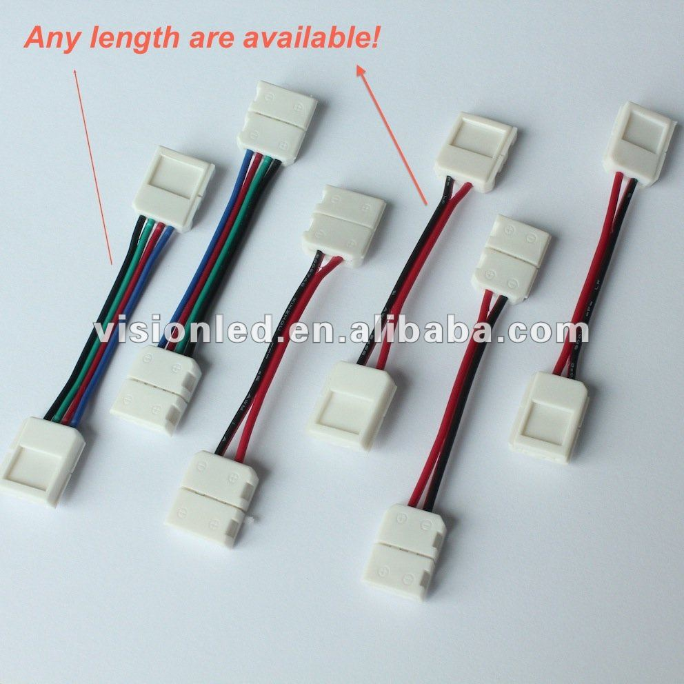 Strip Led Ww Cw Pw Rgb Led Strip Light Wire Connector View Rgb Led Strip Light Connector Vision Product Details From Shenzhen Vision Led Light Co Ltd On