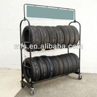 Mobile Metal Tire Rack,Moving Tyre Storage Shelf - Buy ...