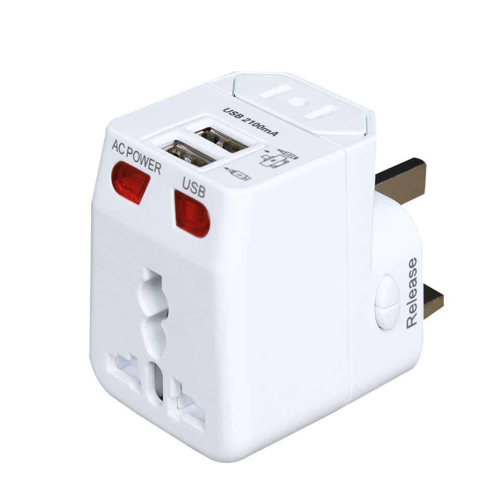 Travel Adapter Amazon Amazon Hot Sale 5v 2 1a Universal Travel Adapter Us With Au Uk Us Eu Plug For More Than 150 Countries Buy Universal Travel Adapter Travel Adapter