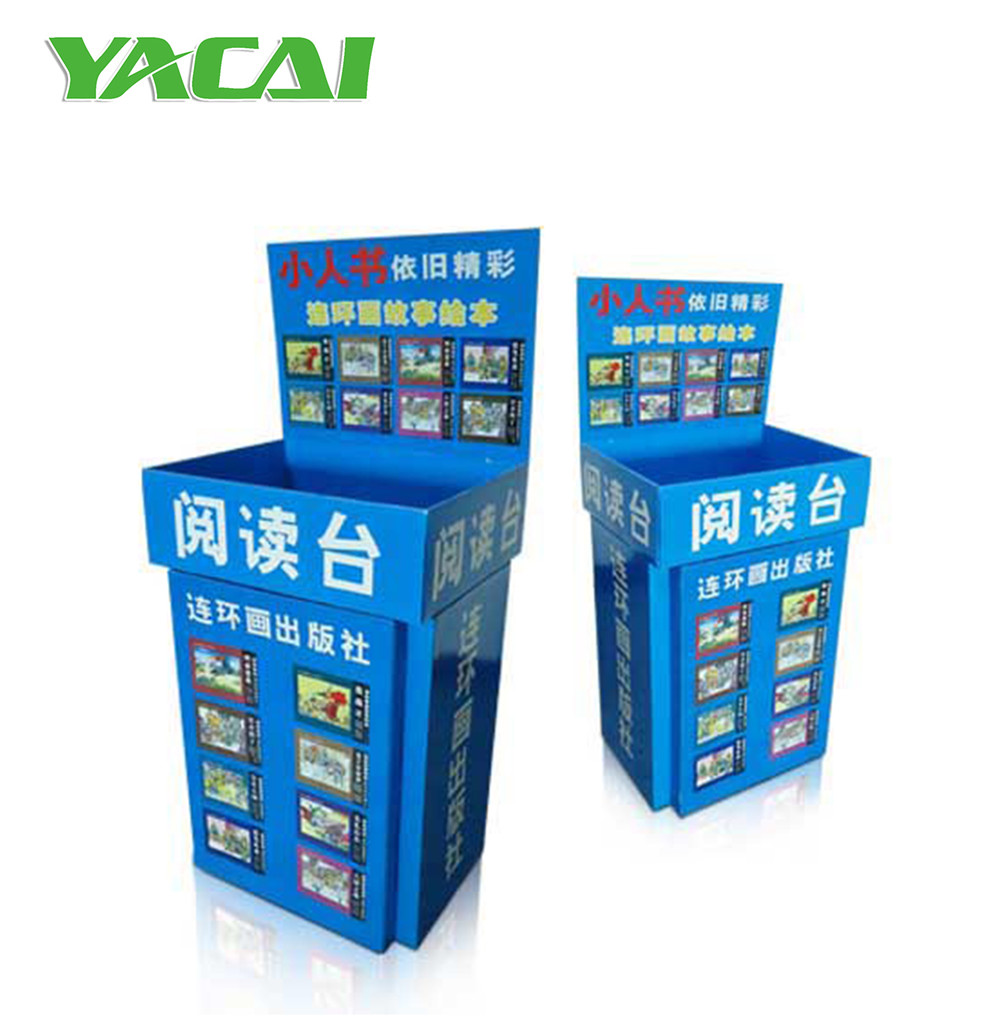 Book Display Stand Custom Corrugated Book Display Stand Cardboard Display Dump Bin For Reading Buy Floor Stand Display Box Case Folding Reading Book Stand Bins Product