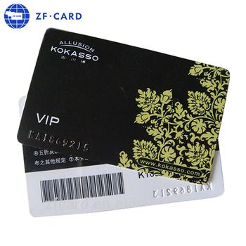 Custom Design Preprinted Plastic Barcode Member Card - Buy