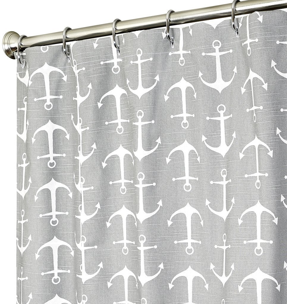 Long Shower Curtain Buy Extra Long Shower Curtain Nautical Shower Curtains Anchor