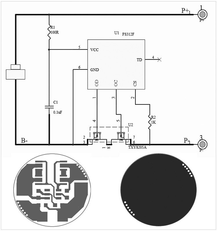 lithium polymer voltage monitor circuit