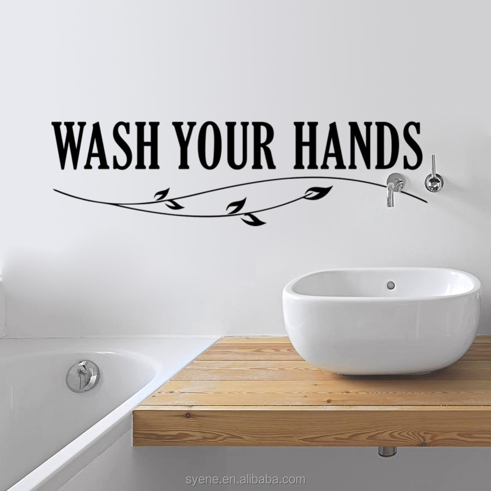 Toilet Wall Art 3d Wall Art Toilet Wall Tiles Designs Art Vinyl Quotes Wash Your Hand Letters With Tree Toilet Wall Stickers Decals Bathroom Buy 3d Wall Art Toilet