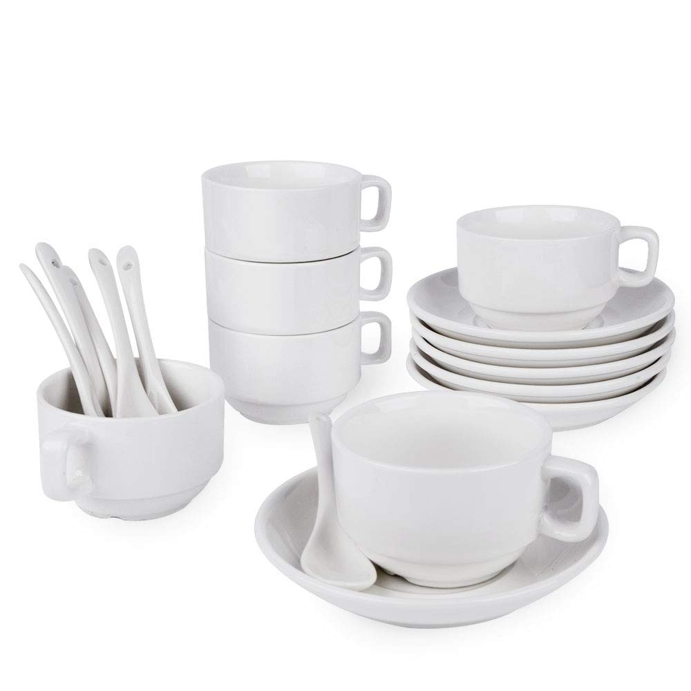Small Coffee Cups And Saucers Buy Espresso Cups And Saucers Set Set Of 6 5 Oz Small Coffee
