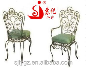 Classical Indoor Wrought Iron Chairs Included Cushion