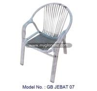 Stainless Steel Garden Armchair In Modern Design,Modern