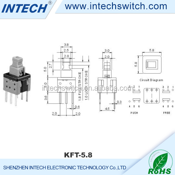 Oem Black 3*6 Mm Tact Switch,Push Button Switch
