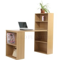 Modern Simple Design Bookcase Wooden Computer Desk With ...