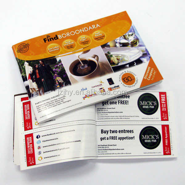 High Quality Colorful Color Coupon Book Printing Publisher Company - Coupon Book Printing