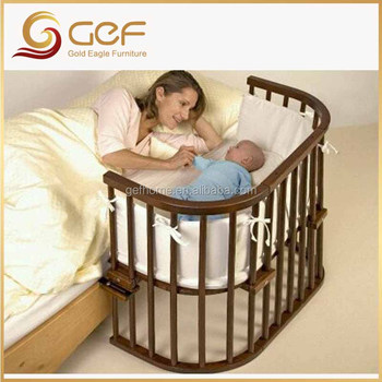 Baby Crib Attached Mother39s Bed New Born Baby Cot Gef Bb