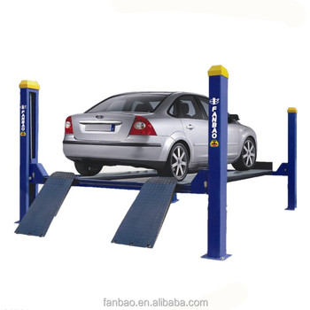 Shanghai Fanbao Manual one side release 4 post car lift 4t for