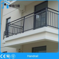 Fancy Wooden Stair Railing Balcony Designs With Safe Door