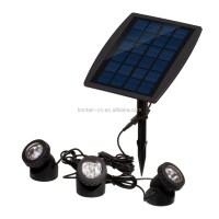 powerbee saturn solar garden wall light. 6 solar powered ...