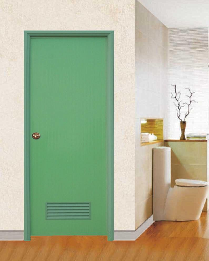 Wk p002 white plain pvc door for interior prices plastic toilet bathroom door cheap price