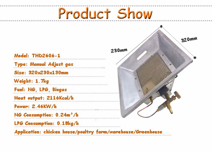 Hot Sale Universal Biogas Infrared Heater Brooder For