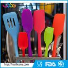 USSE 6-Piece Silicone utensil Set - 2 Spoons, 2 Turners, 1 Spoonula / Spatula & 1 Ladle - Heat Resistant Kitchen Utensils
