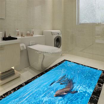 Animal Bedroom Wallpaper Dolphin The Floor Sticker Waterproof Antiskid Mat Twill