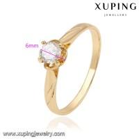 13957-fashion Jewelry Manufacturer 18k Gold Single Stone ...