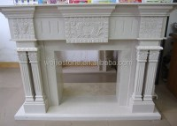 White Marble Fireplace Tile,Insert Marble Fireplace - Buy ...