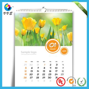 Creative wall calendar design 2014 spiral binding wall calendar - calendar sample design