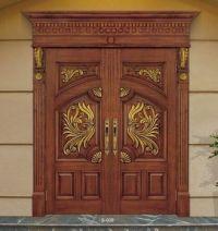 Wooden Double Door Designs,New Design Double Leaf Wood ...
