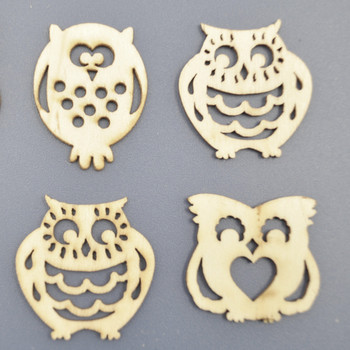 Night Owl Shape Wood Shape Craft For Wholesale - Buy Laser Cut Wood
