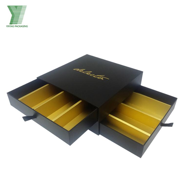 Black Chocolate Packaging Box Design Templates Box/custom Drawer