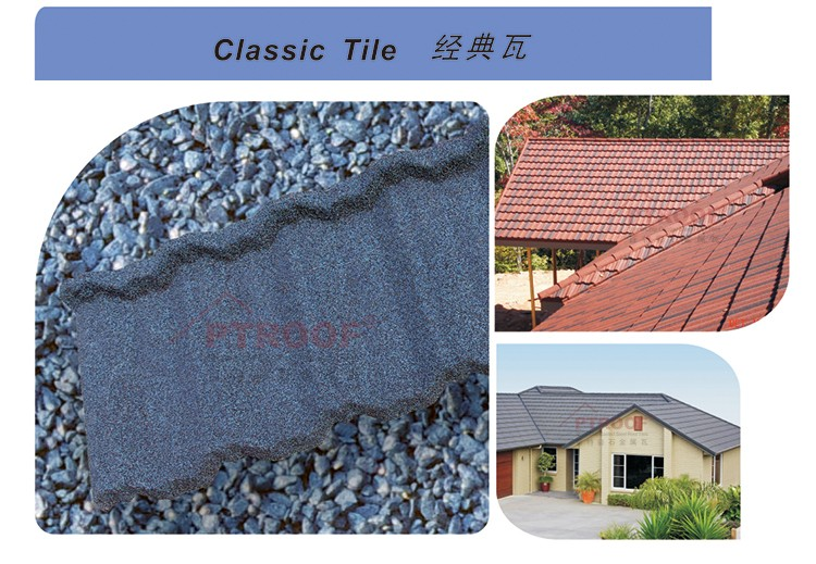 Color Corrugated Natural Antique Composition Stone Coated