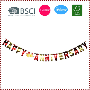Wholesale Happy Anniversary Letter Banner For Anniversary Wedding