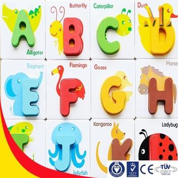 Alphabet Flashcards Children Education Diy Toys Animal Farm Card