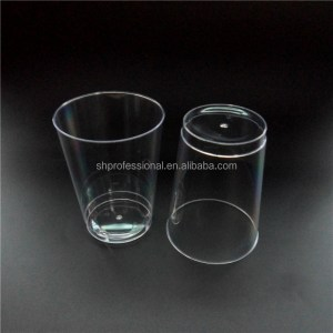 Hard Elegant 14oz Disposable Cup ,Biodegradable Clear Plastic Cup