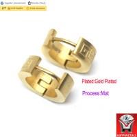Self Piercing Hoop Earrings,Steel Earrings Gold - Buy Self ...