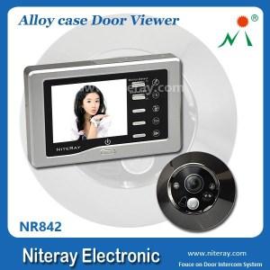 2015 new alloy metal door video camera door entry camera with USB & TF card