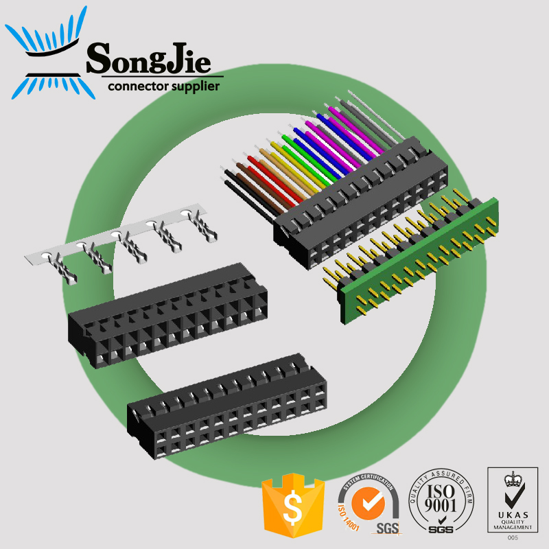 double rows 2mm 2x15 30 pin crimp type wire connector terminal
