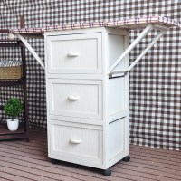 Multi Drawers Wooden Ironing Board With Cabinet Ironing ...