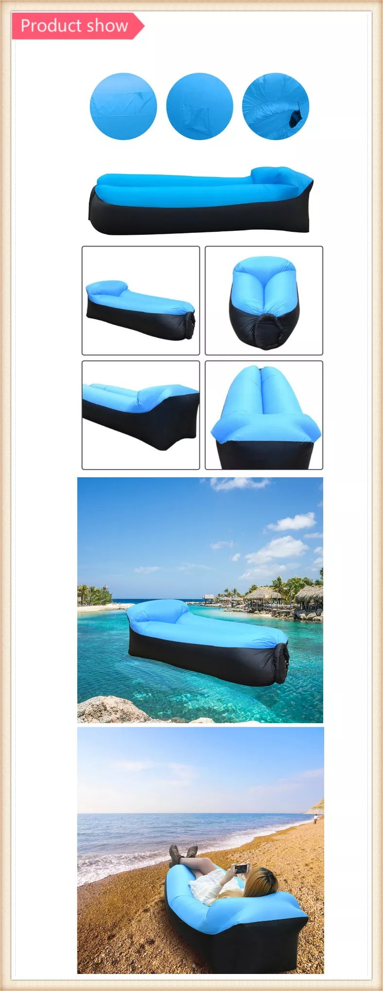 Air Sofa ár Inflatable Lounger Sleeping Air Bed Chair Resistant Portable Blow Up Lounge Chair For Indoor Outdoor Camping Beach Sofa Buy Air Bed Lazy Sofa Air