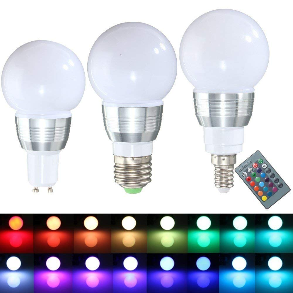 Led Bulbs Rgb Led Bulb E27 E14 16 Color Changing Light Candle Bulb Rgb Led Spotlight Lamp Ac85 265v Cheap Led Colour Change Bulb Find Led Colour Change Bulb Deals On