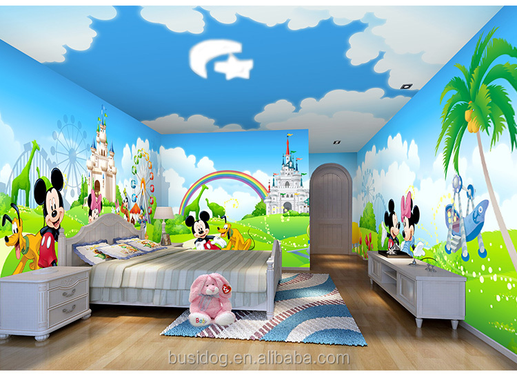 Castle Wall Wallpaper Kid Room 3d Hd 3d Cartoon Characters Mural Wallpapers For Kids Room
