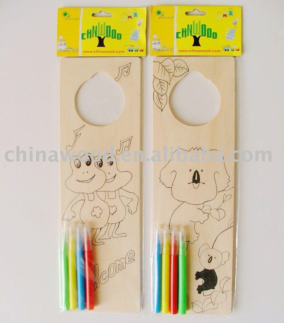 Decorative door hangers craft -  Craft Decorative Wooden Door Hanger For Kids Holiday To Paint Download