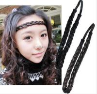Fake Hair Braid Headband Beautiful Beach Wave Wig Braid ...