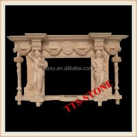 Carved Marble Statue Fireplace Mantles - Buy Carved Marble ...