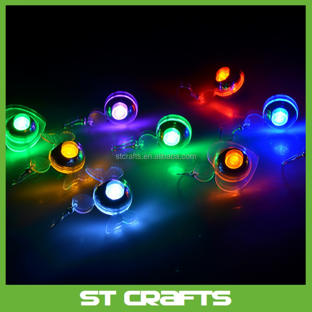Led Earrings Multicolor Bright Stylish Fashion Led Earrings Glowing Lighting Earring Flashing Led Party Ear Stud Buy Ear Stud Led Earrings Led Ear Stud Product