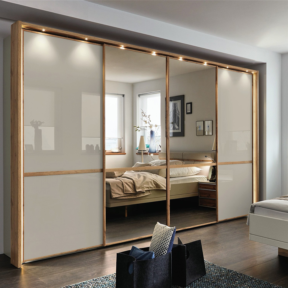 Garderobe Design New Model Easy Assembly French Luxury Garderobe Plywood L Shape Storage Mirror Wardrobe Mini Design Buy Wooden Almirah Cabinet Designer Almirah