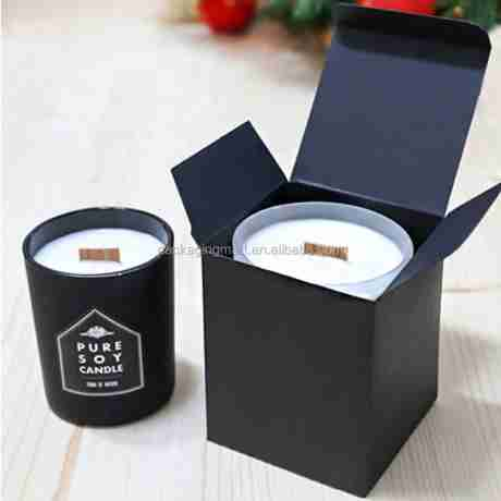 Source Customizable Foldable Cube Paper Black Favor Gift Boxes