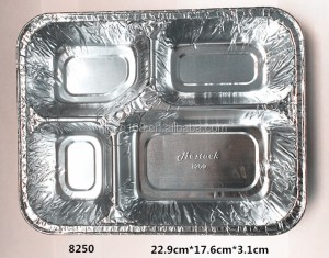 High quality of aluminum foil food container